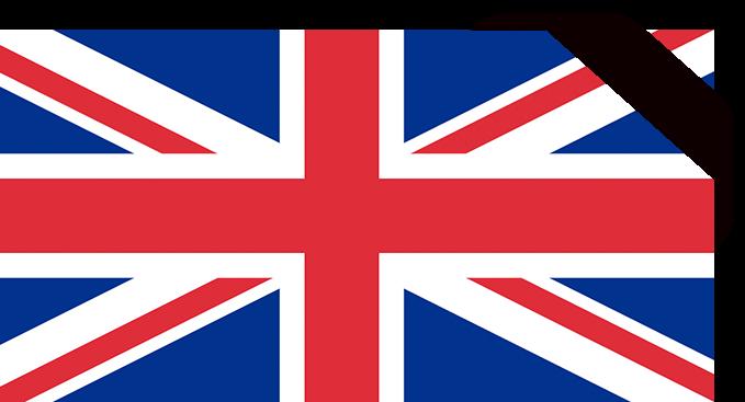 united kingdom mourning flag